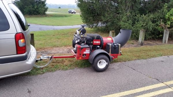TrailBlower behind vehicle 600